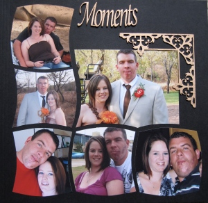Page created by Merrilyn Maas.  Page completed with Chipboard corner and Heading.