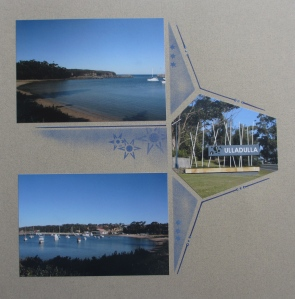 Inking and  Decorative Duo Stencil Winter Celebrations - GAB 551 were used on this page.