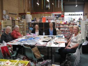 Saturday morning class - Hazel, Joy, Dallas, Venie, Leonie and Sue.