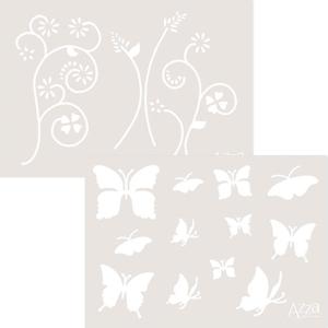 Butterfliesthemekitdecostencil