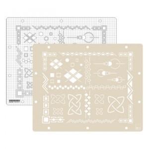 Geometric embossing stencil GAB_602-400x400