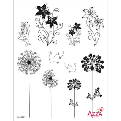 tam0034elegant-flowers-large-stamp-set
